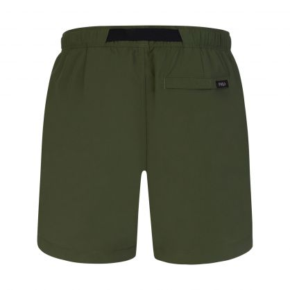 Green Nylon Hiking Shorts