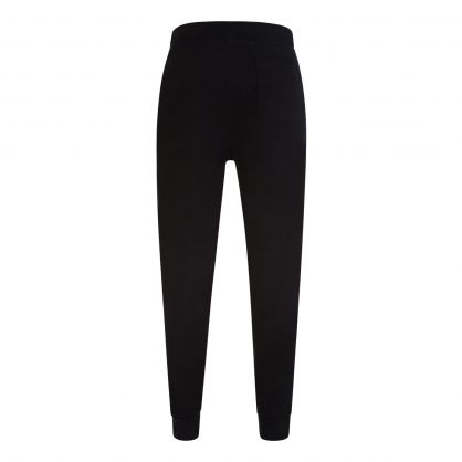 Black Double Knitted Sweatpants