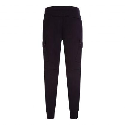 Black Double-Knit Cargo Sweatpants