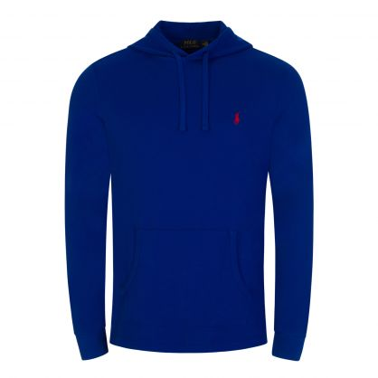 Blue Cotton Pullover Hoodie