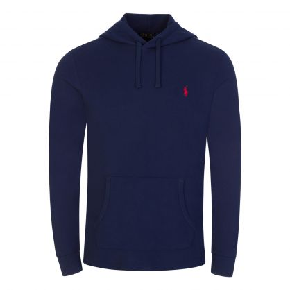 Navy Cotton Pullover Hoodie