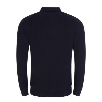 Navy Pima Cotton Texture Sweatshirt