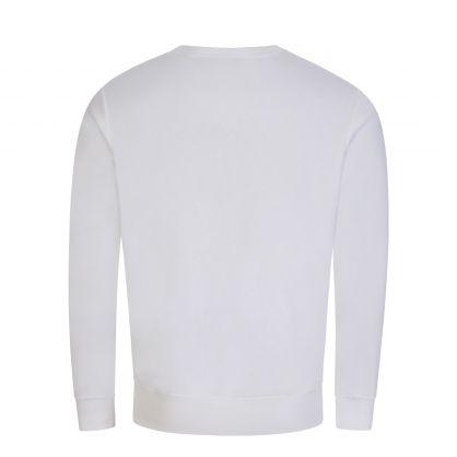 White Graphic Fleece Sweatshirt