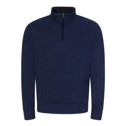 Navy Half-Zip Sweatshirt