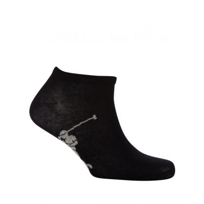 White/Black Pony Sole Socks 3-Pack