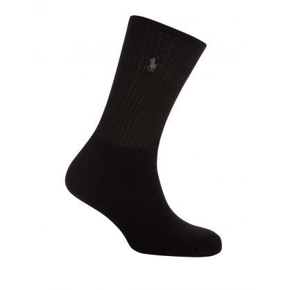 Navy/Charcoal/Black Custom-Fit Socks 3-Pack