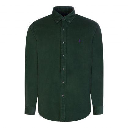Green Corduroy Custom Fit Shirt