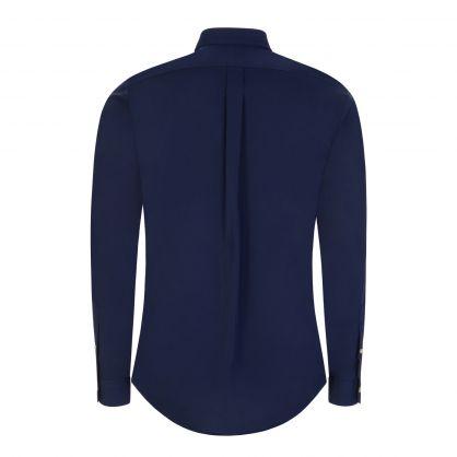 Navy Slim-Fit Poplin Shirt