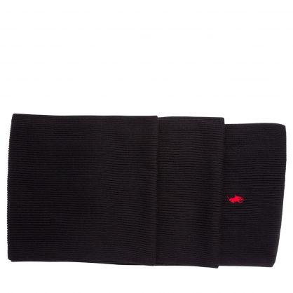 Black Merino Wool Scarf