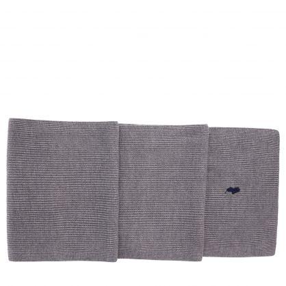 Grey Merino Wool Scarf