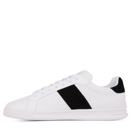 White/Black Heritage Court II Leather Trainers