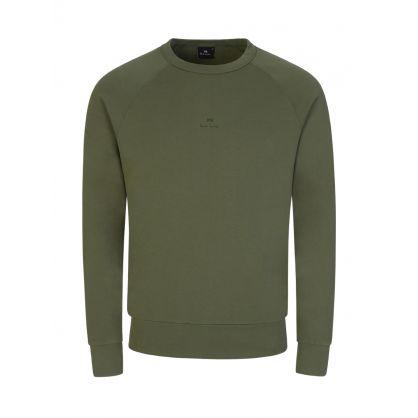Green Raglan Logo Sweatshirt