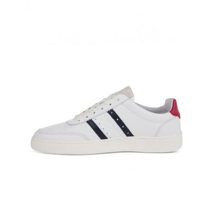 White Leather Raffi Trainers