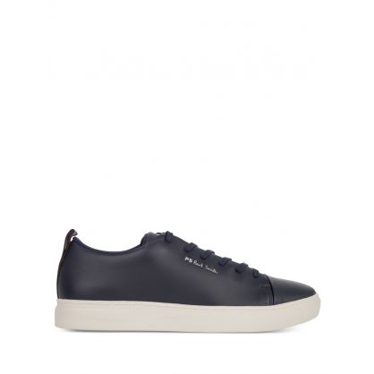 Navy Leather 'Lee' Trainers