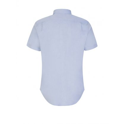 Blue Tailored Fit Zebra Shirt
