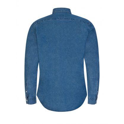 Blue Tailored Fit Denim Shirt