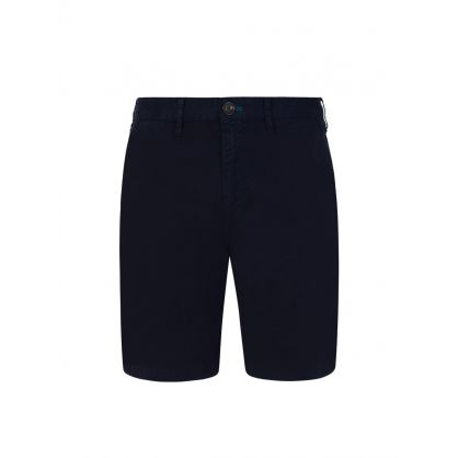 Navy Garment-Dyed Pima Cotton Shorts