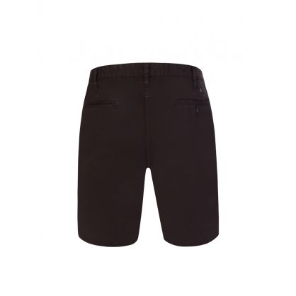 Black Garment-Dyed Pima Cotton Shorts