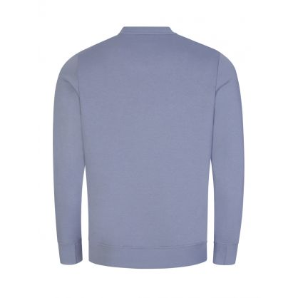 Pale Blue Organic Cotton Zebra Logo Sweatshirt