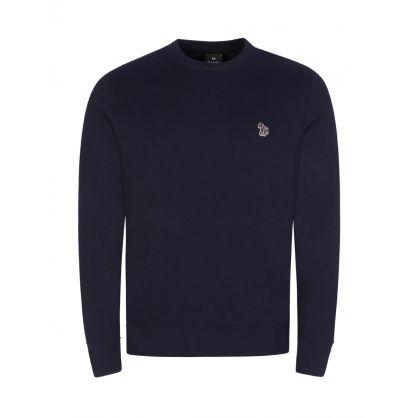 Navy Zebra Logo Sweatshirt