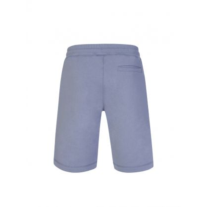 Pale Blue Organic Cotton Zebra Sweat Shorts