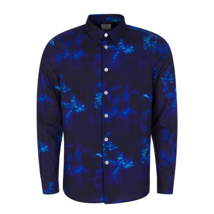 Navy Tailored-Fit Mix-Up Floral Shirt