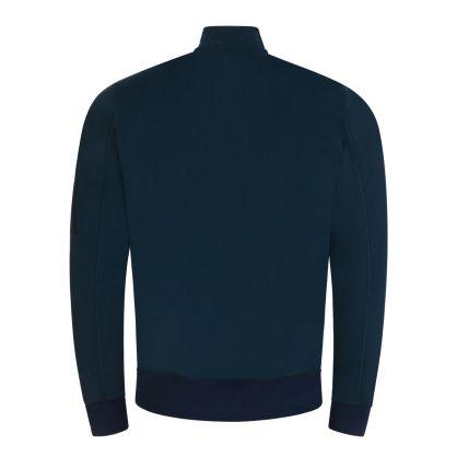 Navy Zip-Through Bomber Sweatshirt