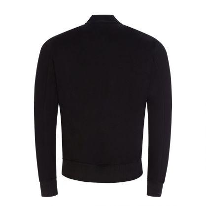 Jet Black Zip-Through Bomber Sweatshirt