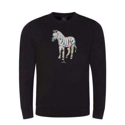 Black Zebra Graphic Sweatshirt