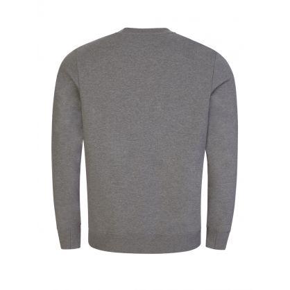 Grey 'Floral Happy Skull' Print Sweatshirt