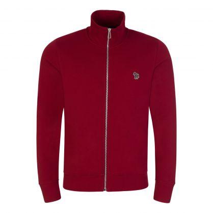 Dark Red Zip-Through Sweatshirt