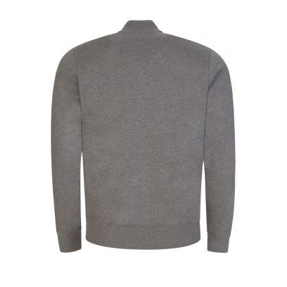 Grey Zebra Logo Zip-Through Bomber Sweatshirt