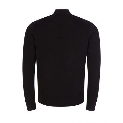 Black Zebra Logo Zip-Through Bomber Sweatshirt