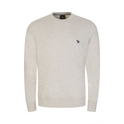 Beige Zebra Logo Sweatshirt