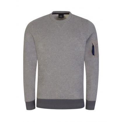 Grey Sleeve Pocket Sweatshirt