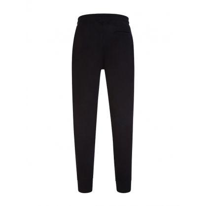 Black Organic Cotton Zebra Sweatpants