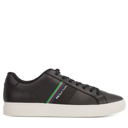 Black Leather Rex Trainers