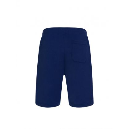 Blue Polo Sport Neon Logo Shorts