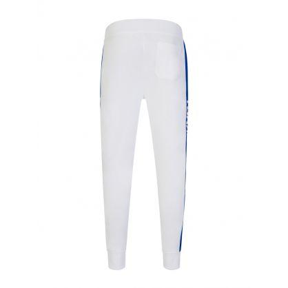 White Fleece Track Pants