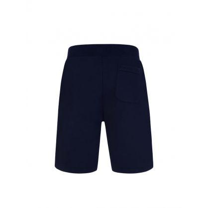 Navy Logo Fleece Shorts
