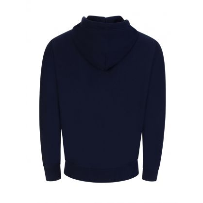 Navy Polo Sport Fleece Hooded Zip-Through