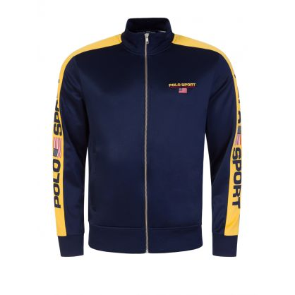 POLO Sport Navy Zip-Through Track Jacket