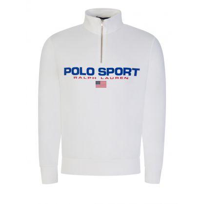 White Polo Sport Fleece 1/4-Zip Sweatshirt