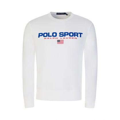 White Fleece Sweatshirt