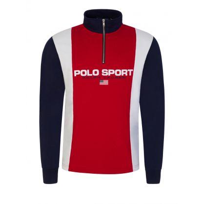 Red 1/4 Zip Sweatshirt