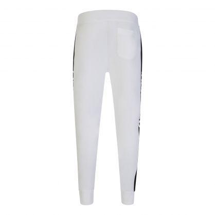 White Fleece Track Sweatpants