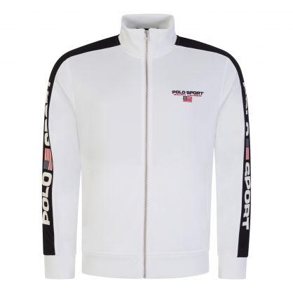 White Zip-Through Track Jacket