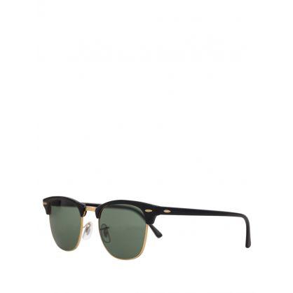 Black Clubmaster Classic Sunglasses