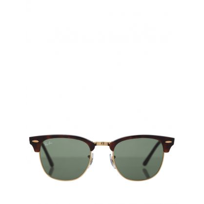 Brown Clubmaster Classic Sunglasses
