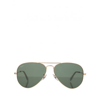 Gold Aviator Classic G-15 Sunglasses